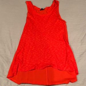 Tank-top with sweater knit front